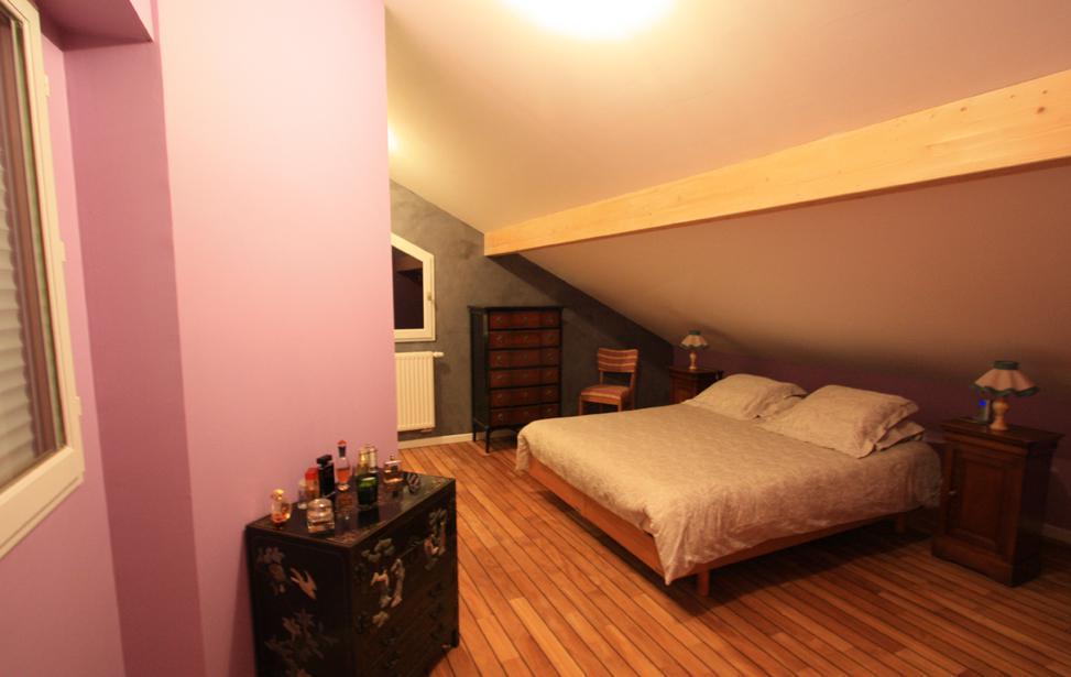 Comblespace extension de maison ossature bois annecy for Extension chambre