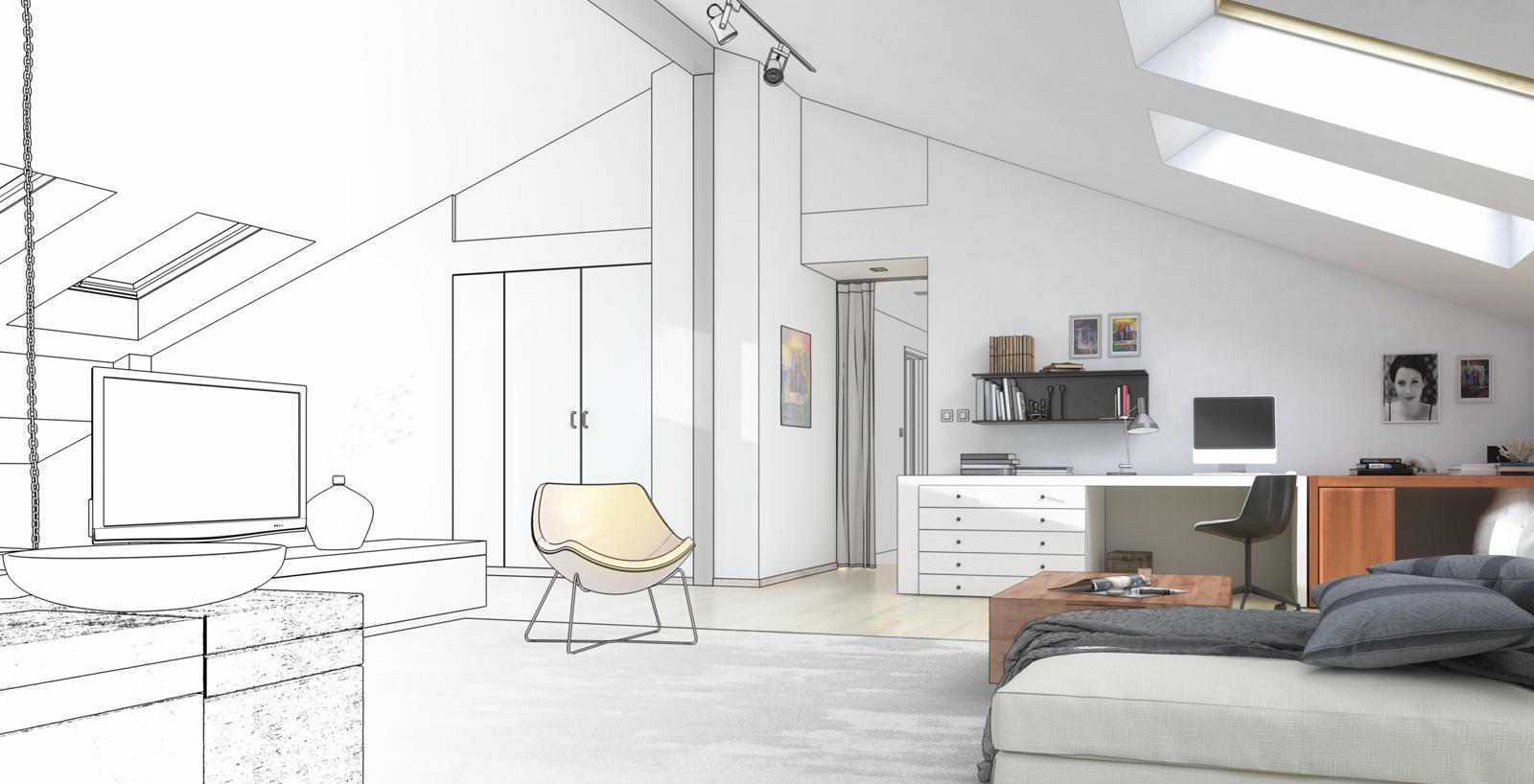 plan amenagement combles interesting rnovation dune maison et amnagement de combles coupe. Black Bedroom Furniture Sets. Home Design Ideas